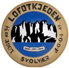 Loge 54 Lofotkjedens segl tegnet av Eks OM Dagfinn Bakke