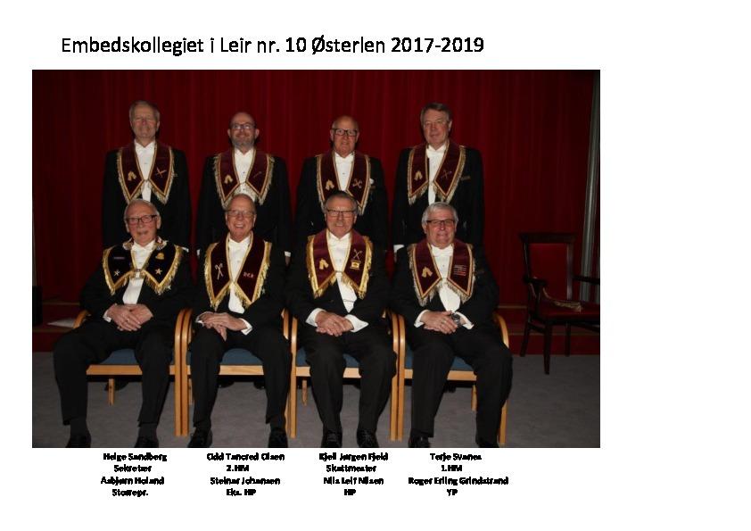 Ffv.: SR Asbjørn Holand, Eks HP Steinar Johansen, HP Nils Leif Nilsen og YP Roger Erling Grindstrand. Bfv.: Sekr. Helge Sandberg, 2. HM Odd Tancred Olsen, Skm Kjell Jørgen Fjeld og 1. HM Terje Svanes
