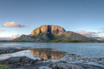 Ett av Trollfjellene på Helgeland