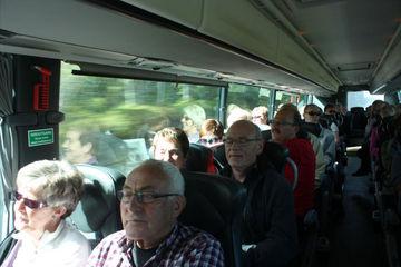 Godt humør på bussturen!